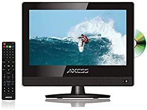 15.4 Inch Digital LED HD TV DVD Combo Wide HDTV ATSC NTSC Monitor, LCD w/Stand, HDMI, RCA, Component, USB, VGA, Coax, SD, AV, Audio, RF, Inputs, AC/DC, Wall Mountable Stereo Speaker Axess TVD-1805-15