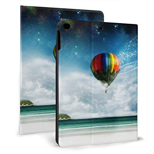 Galaxy Sky Hot Air Balloon Smart Case for Ipad 9.7 2018/2017 Lightweight Smart Cover with Auto Sleep/Wake,Hard Back Cover for Ipad 5th/6th Gen