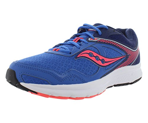Saucony Women's Cohesion 10 Running Shoe, Blue/Cor, 8 M US