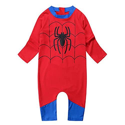Peuter Spiderman Badpak Uit één stuk Zwempakken Jongen Meisje Surfen Zwemmen Kostuum Hawaiiaanse badmode Spiderman Hawaiiaanse Beachwear voor Vakantie,Red- kid S(75~85cm)