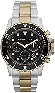 Michael Kors For Men Black Dial Stainless Steel Band Chronograph Watch - MK8311