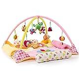 2019 Playmet Baby Spielzeug Erweiterte Babydecke Spieldecke 100% Baumwolle Kinderzimmerdekoration in Wissenschaft geerdet - pädagogische Spielzeit mit Zweck,Pink