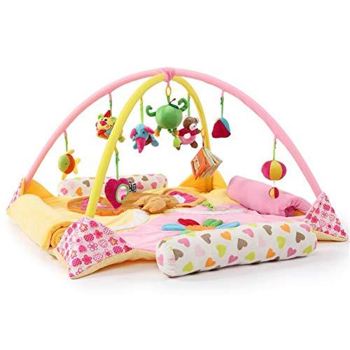 2019 Playmet Baby Toy Extended Couverture de Jeu pour bébé Couverture Couverture de Chambre d'enfant 100% Coton ancrée dans la Science - Playtime éducatif w/a Purpose,Pink