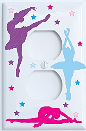 Ballerina Light Switch Plate Outlet Covers Dance Ballerina Wall Decor Outlet Cover Home Kitchen