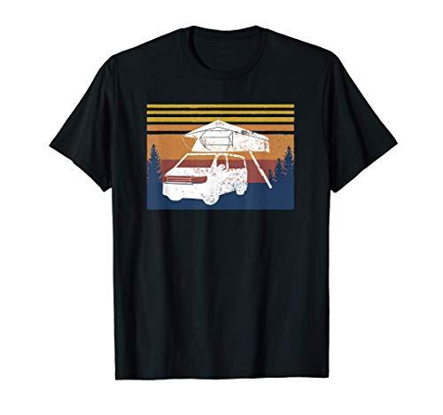 Dachzelt am Bus Van Camping mit Dachzelt und Bus T-Shirt