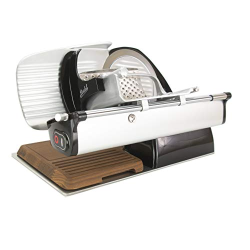Palatina Werkstatt ® Bundle | Berkel Home Line 200 | Aufschnittmaschine | schwarz | neues Modell : 2020 + Holzschneidebrett+Poliertuch