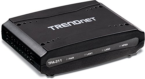 TRENDnet Mid-Band Coaxial Network Adapter, Supports HomePNA 3.1 Over Coaxial Cables, Supports Deployment For Digital TV, High Speed Internet And VoIP Single-Access Subscription, Black, TPA-311