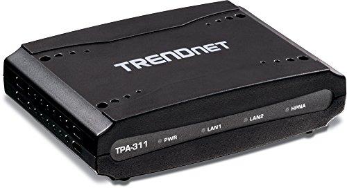 TRENDnet Midband HPNA Koaxial Netzwerkadapter, Datenübertragungsraten bis zu 256Mbps über Distanzen bis zu 1600 Meter (5,200 Fuß), TPA-311