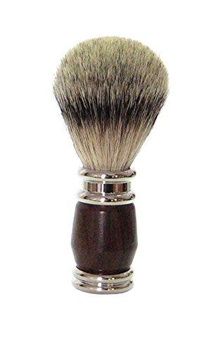 Golddachs Blaireau de rasage 100% poils de blaireau avec base en métal Argenté