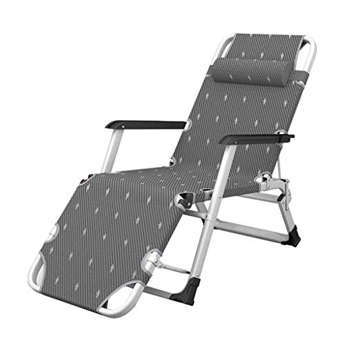 Fauteuil inclinable Pliant Sun Lounger Fauteuils de Relaxation Fauteuil de Jardin Garden Portable Textilene