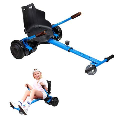 Hoverkart, Kart Ajustable para Scooters eléctricos de autoequilibrio, Asientos de Hoverboard, Karts compatibles con Todos los Scooters-6.5 / 8.5 / 10 Pulgadas, Regalos para niños y Adultos(Azul)