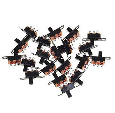 Naisidier 5 V 0,3 A Mini Taille Noir Spdt Interrupteur SPDT Mini Switch Switch Black 20 Pack