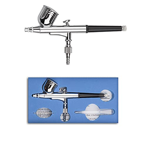 Pinkiou Kit de aerógrafo portátil Pluma de pulverización para aplicación de base Pintura facial con pulverizador de aerógrafo (aguja de 0.3 mm)