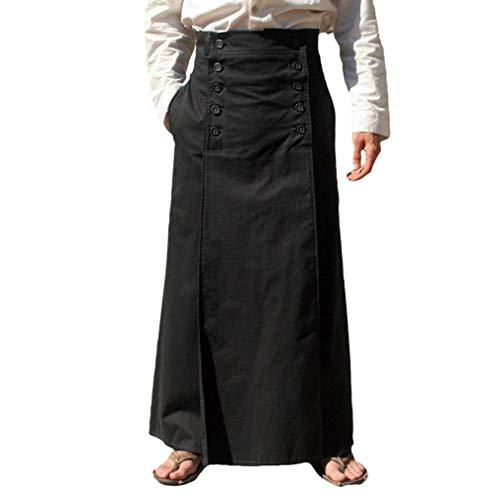 MEIHAOWEI Punk Männer viktorianischen gotischen schwarzen Langen Jacquard Kilt Persönlichkeit Röcke Hosen mittelalterlichen Vintage Maxi Langen Rock