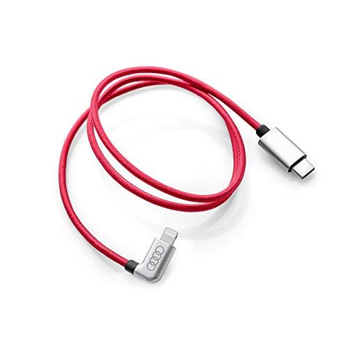 Audi 8S0051435K Ladekabel Kabel Anschlusskabel Verbindungskabel gewinkelt, rot