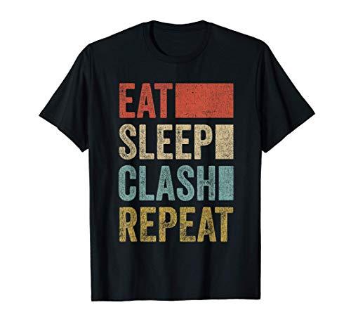 Gaming Clan Eat Sleep Clash Repeat Clans Retro Clash T-Shirt