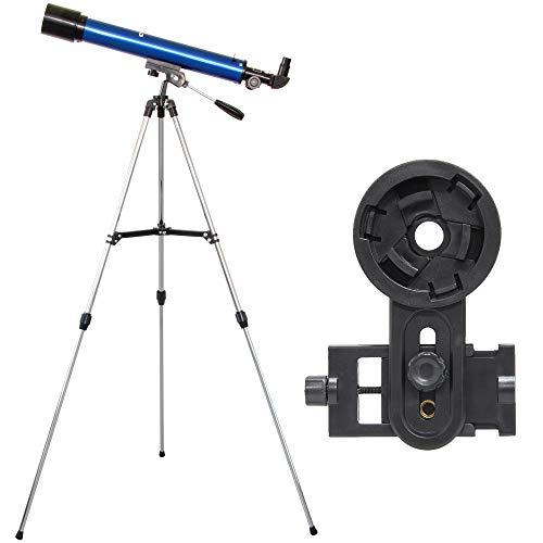 池田レンズ工業 天体望遠鏡 レグルス60 スマホ撮影セット 天体ガイドブック付き 屈折式 口径60mm 焦点距離600mm ブルー