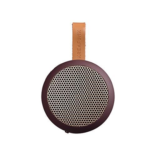 KREAFUNK aGO portabler Taschen-Bluetooth-Speaker (Plum/roségold)