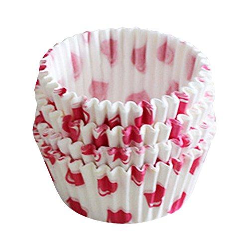 Sanwood Lot de 100 moules à gâteaux en papier pour cupcakes, muffins, fête de Noël (type 1)