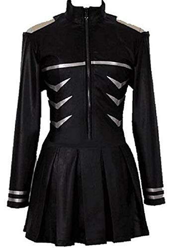 NSOKing Tokyo Ghoul Kaneki Ken Pleather Battle Dress Costume (M, Black)