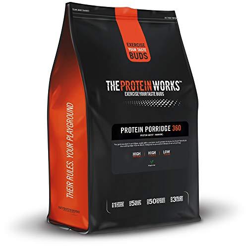High Protein Porridge 360 | Wenig Zucker | Premium Vollkorn, Ballaststoffreiche Haferflocken | Mit Vitaminen | THE PROTEIN WORKS | Apfel & Zimt | 500g