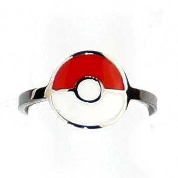 INOX Pokemon Pokeball Women s Stainless Steel Ring Size 6
