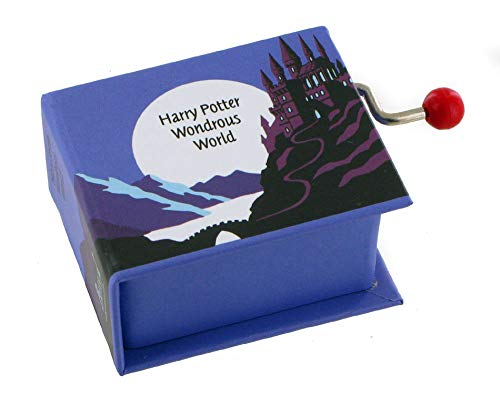 Caja de música / caja musical de manivela de cartón en forma de libro - Harry Potter\'s wondrous world - Harry Potter y la piedra filosofal (John Williams)