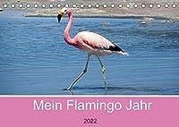 Mein Flamingo Jahr (Tischkalender 2022 DIN A5 quer): Trendtier Flamingo - Die pinke Schoenheit auf Stelzen (Monatskalender, 14 Seiten )
