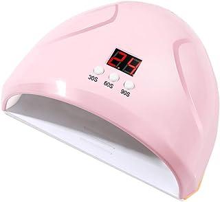 Lurrose 36W Gel UV LED Nail Lamp Auto Sensor Nail Dryers Professional Salon Gel Nail Polish Curing Lamp (Pink)