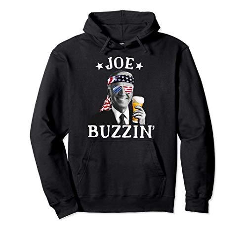 Joe Buzzin' Patriótico 4 de julio Beber Presidente Joe Biden Sudadera con Capucha