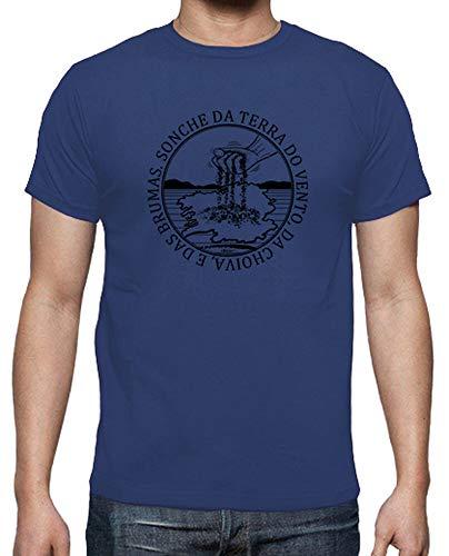 latostadora - Camiseta Sonche Da Terra para Hombre Azul Royal L