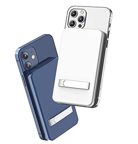 Kettles Métodos de Carga de múltiples Bancos de Potencia inalámbrica mag-Safe FALLESS WINESS WONDS con TELÉFONO por TELÉFONO 12 / 12PRO / MAX Otros QI TELÉFONOS QI (Color : Blue)