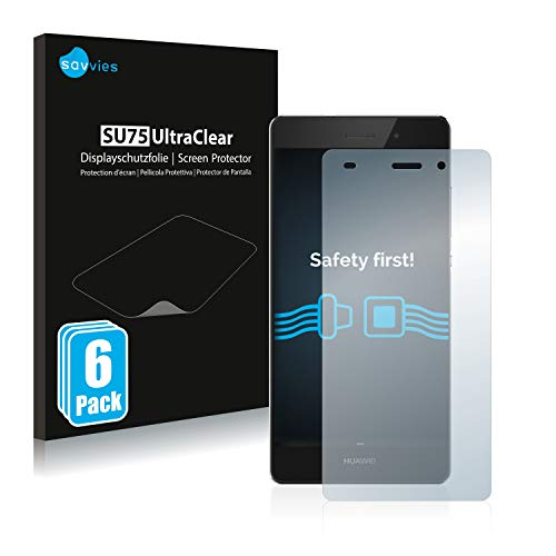 savvies 6-Pezzi Pellicola Protettiva Compatibile con Huawei P8 Lite 2015 2016 Protezione Schermo Trasparente