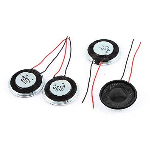 Sourcingmap® 4stk. 2W 8 Ohm Kunststoff Metall Schale Rund Intern Magnet Lautsprecher de