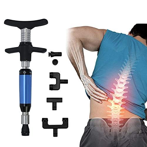 Manual Spine Activator Chiropractic Adjustment Correction Tool, Adjust Vertebration Cervical Spondy Force Spine Adjusting Massager for Improve Joint Pain (Blue)