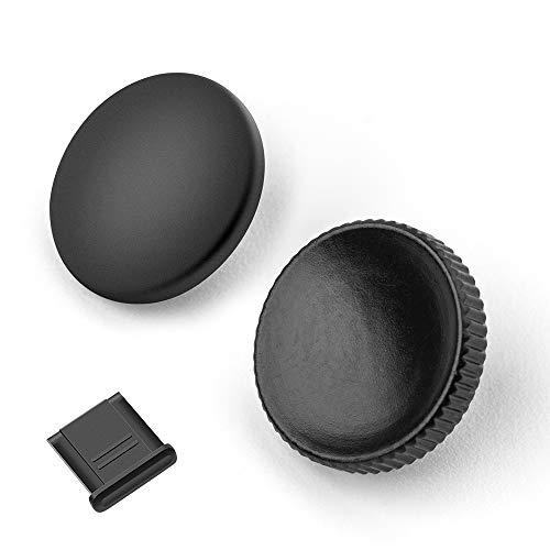 Fotover Metall Messing Weich Auslöseknopf für Leica Series und Fujifilm XT20 X100F X-T2 X100T X-PRO2 X-T10 X-PRO1 X100 X100 X100 X10 X20 X30 X-E1 STX-2 mit Blitzschuhabdeckung