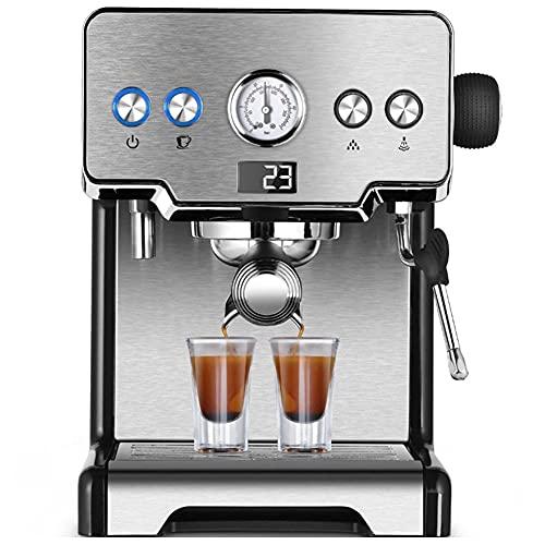SOFACTY Kaffeevollautomat Mit Milchaufschäumdüse Direktwahltasten Für Espresso Und Kaffee 2-Tassen-Funktion 1,5 Liter Wassertank