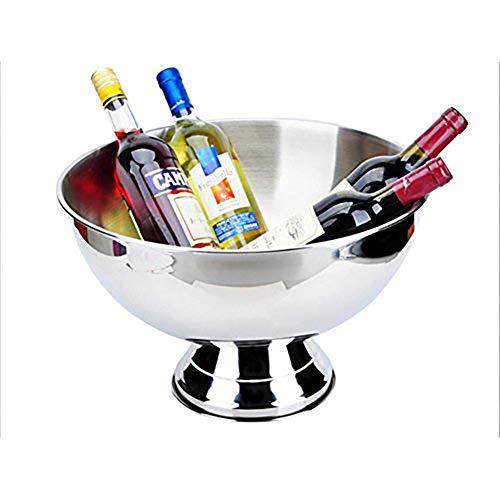 YQLM - Secchiello per champagne in acciaio INOX, 40 cm, per il piacere di champagne, spumante e vino