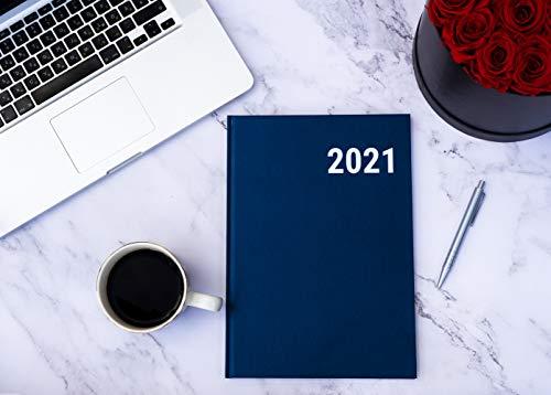 koalaplan Agenda 2021 de tapa dura, A4, agenda anual de 2021, calendario semanal, planificador escolar, planificador anual (estilo empresarial, color azul)