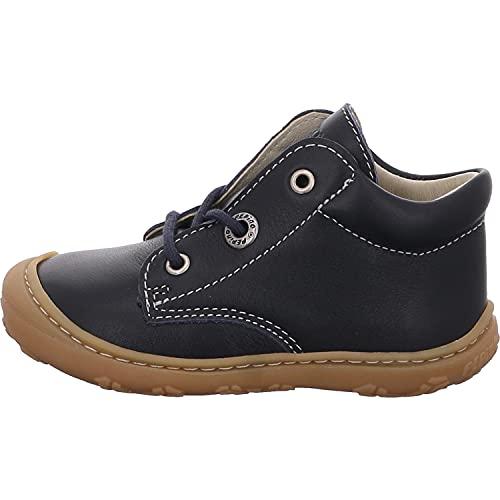 RICOSTA Unisex - Kinder Boots Cory von Pepino, Weite: Mittel (WMS),Kinderschuhe,schnürstiefel,Booties,Leder,Kids,Nautic (184),21 EU / 4.5 Child UK