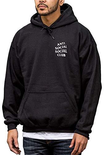 Identity Anti Social Club Sudadera capucha color negro