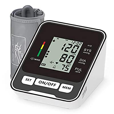 Blood Pressure Monitor for Upper Arm,Fully Accurate Automatic Digital BP Machine for Home Use Fast Reading Health Monitor with LCD Display and Voice Function
