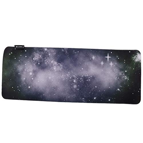 LargeLEDLighting Keyboard pad Starry SkyRGBGaming Mouse pad Rubber Bottom Edging Game Colorful Lighting Effects Power OffM