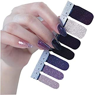 TBOP NAIL STICKERS easy quick nail art polish set of 14 pcs Black and Beige color
