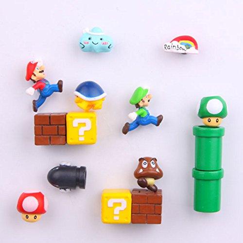 Mario Kühlschrankmagnete, Kühlschrankmagnete, Büro-Magnete, Kalender-Magnete, Whiteboard-Magnete, Mario, dekorative Kühlschrankmagnete, Küchen-Set, 14 Stück