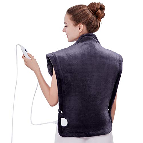 "Utaxo Heating Pad Wrap, for Neck Shoulders Whole Back Pain Relief, Soothing Muscle Pain and Tension Relief Therapy, 6 Electric Temperature Options, 25 x 32"", XXX-Large"