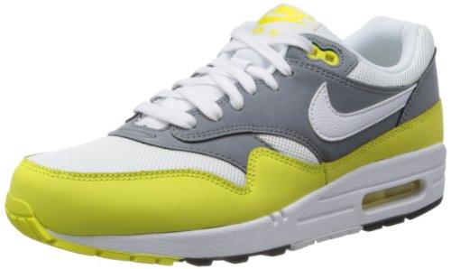Nike Herren Air Max 1 Essential Sneakers, Neongelb-Dunkelgrau-Weiß, 46.5 EU
