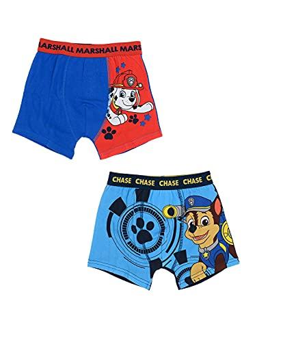 2er Pack Paw Patrol Jungen Boxershorts Kinder Unterhosen 116-122 / Mehrfarbig