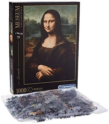 Clementoni Rompecabezas Puzzle 1000 Piezas Museos Leonardo: Mona Lisa, Color, 12+ (31413)