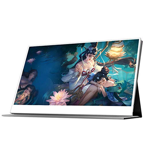 MUYEY Portable display, 15.6-inch IPS screen Ultra HD 4K 3840x2160, Built-in speaker, standard HDMI, Type-C interface, compatible with PC, laptop, mobile phone PS3 / 4 Etc.